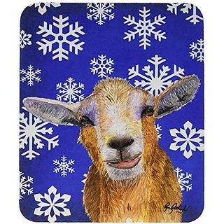 Carolines Treasures Winter Snowflakes Goat Winter Mouse Pad/Hot Pad/Trivet (RDR3023MP)