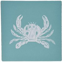 3dRose LLC 8 X 8 X 0.25 Inches Mouse Pad, White Crab Etched Teal Turquoise Aqua Blue - Nautical Beach Sea Ocean (mp_1648