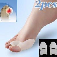 1 Pair Gel Silicone Bunion Corrector Big Toe Separators Straightener Spreader Foot Care Tool