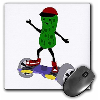 Funny Pickle using Motorized Skateboard Art - Mouse Pad, 8 by 8 inches (mp_224796_1)