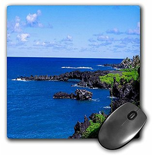 3dRose LLC 8 x 8 x 0.25 Inches Mouse Pad, The Beautiful Maui Coast (mp_6383_1)