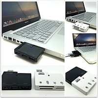 Combo 3 Port Super Speed USB 3.0 Hub With Memory Card Reader For Mac, IMac, MacBook Pro, Macbook Air, Laptop, PC And Mor