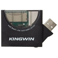 Kingwin Hi-Speed USB 2.0 Multi-Card Reader And Writer, KWCR-441 (Black)