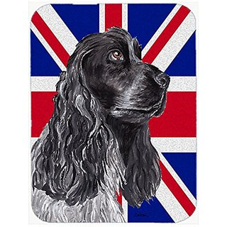 Carolines Treasures Black Cocker Spaniel with Engish Union Jack British Flag Mouse Pad/Trivet (SC9868MP)