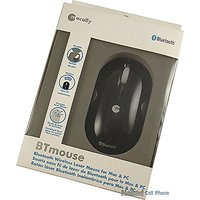 Macally Bluetooth Wireless Laser Mouse For Mac And PC (Black)