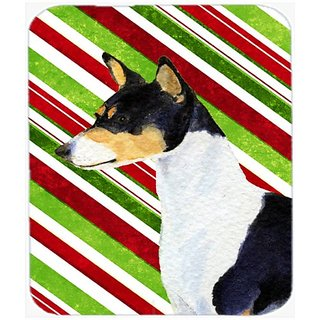 Carolines Treasures Mouse/Hot Pad/Trivet, Basenji Candy Cane Holiday Christmas (SS4583MP)