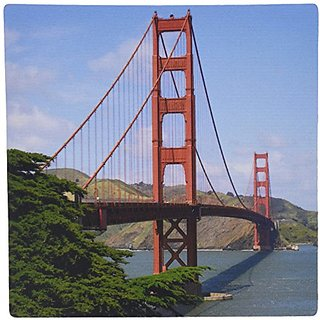 3dRose LLC 8 x 8 x 0.25 Inches Mouse Pad, Golden Gate Bridge San Francisco (mp_21694_1)