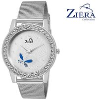 Ziera Round Dial Silver Analog Watch For Women-Zr8023