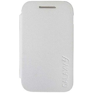 samsung galaxy y young s5360 s 5360 flip cover diary case hard back white