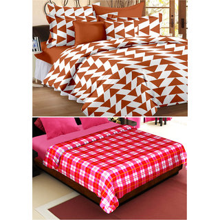 Story@Home 1 Double Bedsheet with Blanket
