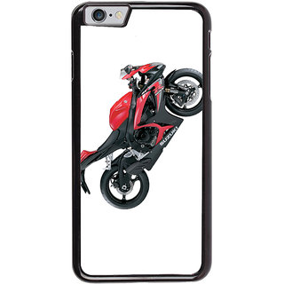 Ayaashii Red Colored Bike Back Case Cover for Apple iPhone 6