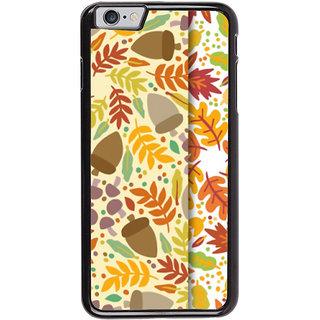 Ayaashii Leaf Pattern Back Case Cover for Apple iPhone 6