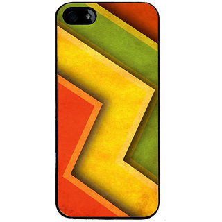 Ayaashii Colorful Zigzag Pattern Back Case Cover for Apple iPhone 5::Apple iPhone 5S