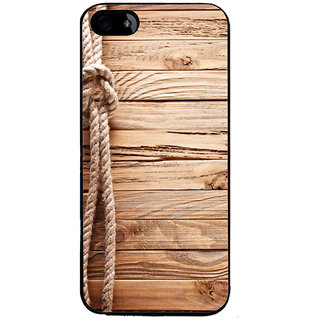 Ayaashii Rope On Wood Back Case Cover for Apple iPhone 5::Apple iPhone 5S