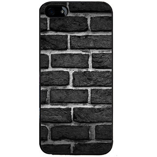 Ayaashii Black And White Wall Back Case Cover for Apple iPhone 5::Apple iPhone 5S