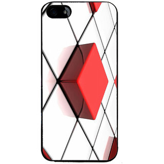 Ayaashii Square Abstract Back Case Cover for Apple iPhone 5::Apple iPhone 5S
