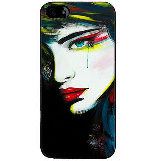 Ayaashii Crying Girl Painting Back Case Cover for Apple iPhone 5::Apple iPhone 5S