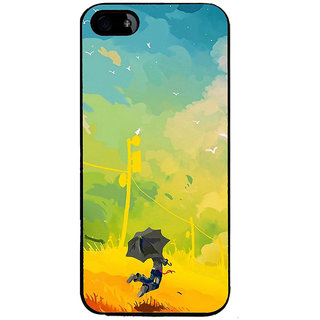 Ayaashii A Man With Umbrella Painting Back Case Cover for Apple iPhone 5::Apple iPhone 5S