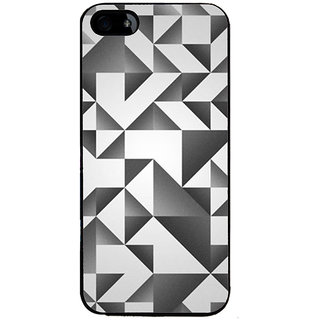Ayaashii Black And White Abstract Back Case Cover for Apple iPhone 5::Apple iPhone 5S