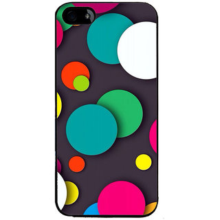 Ayaashii Colorful Circle Pattern Back Case Cover for Apple iPhone 5::Apple iPhone 5S