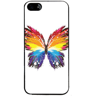 Ayaashii Colorful Butterfly Back Case Cover for Apple iPhone 5::Apple iPhone 5S