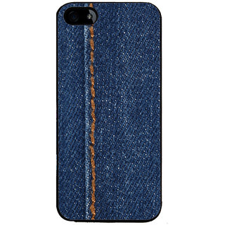 Ayaashii Jeans Cloth With Stich Back Case Cover for Apple iPhone 5::Apple iPhone 5S