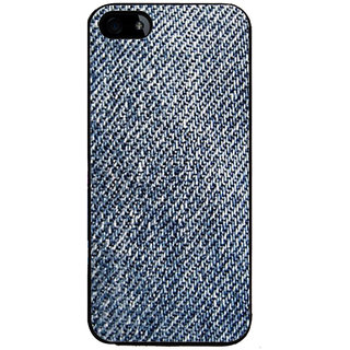 Ayaashii Jeans Cloth Back Case Cover for Apple iPhone 5::Apple iPhone 5S