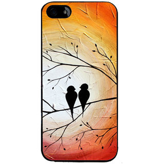 Ayaashii Two Birds On A Tree Back Case Cover for Apple iPhone 5::Apple iPhone 5S