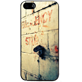 Ayaashii Emergency Stop Back Case Cover for Apple iPhone 5::Apple iPhone 5S