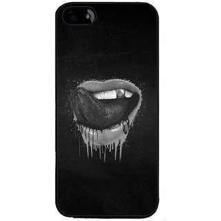 Ayaashii Sexy Mouth Back Case Cover for Apple iPhone 5::Apple iPhone 5S