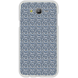 ifasho Animated Pattern design black and white flower in royal style Back Case Cover for Samsung Galaxy On 7