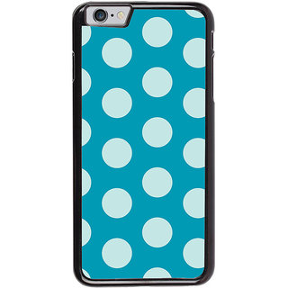 Ayaashii White Dotted In Blue Background Back Case Cover for Apple iPhone 6S