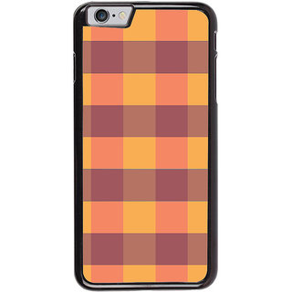 Ayaashii Check Pattern Back Case Cover for Apple iPhone 6S