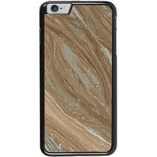 Ayaashii Wooden Finish Marble Back Case Cover for Apple iPhone 6S