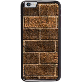 Ayaashii Wooden Bricks Pattern Back Case Cover for Apple iPhone 6