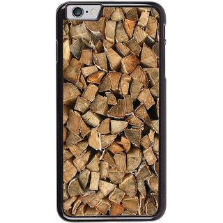 Ayaashii Wooden Cut Pieces Back Case Cover for Apple iPhone 6S