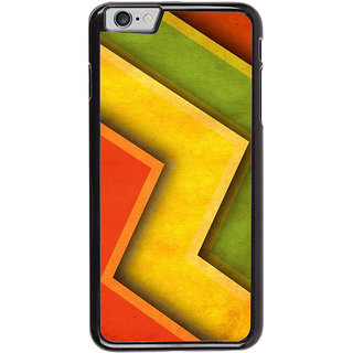 Ayaashii Colorful Zigzag Pattern Back Case Cover for Apple iPhone 6S