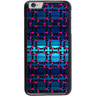 Ayaashii Pink Black Abstract Back Case Cover for Apple iPhone 6S