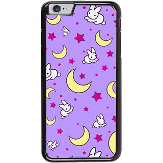 Ayaashii Moon Star Rabbit Pattern Back Case Cover for Apple iPhone 6S