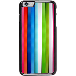 Ayaashii Color Stripes Back Case Cover for Apple iPhone 6S