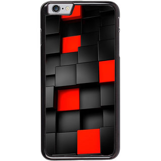 Ayaashii Black And Red Square Abstract Back Case Cover for Apple iPhone 6