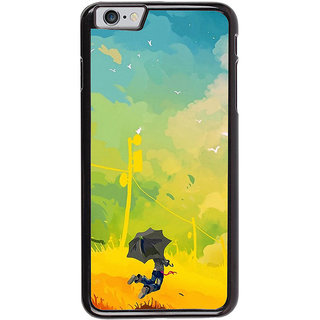 Ayaashii A Man With Umbrella Painting Back Case Cover for Apple iPhone 6