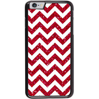 Ayaashii Horizontal Zigzag Pattern Back Case Cover for Apple iPhone 6