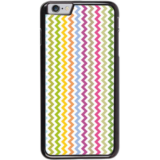 Ayaashii Colorful Zigzag Pattern Back Case Cover for Apple iPhone 6