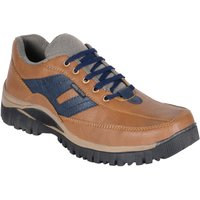 Shoeiverse Men's Tan Lace Up Casual Shoes