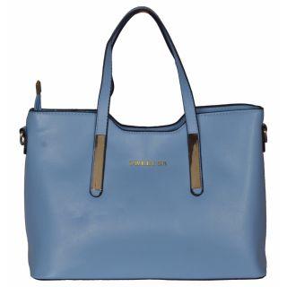 Cuddle Blue Solid/Plain Casual Handbag