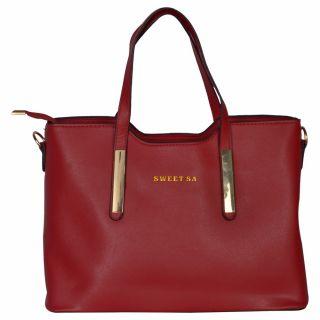 Cuddle Red Solid/Plain Casual Handbag