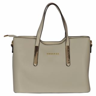 Cuddle White Solid/Plain Casual Handbag