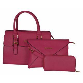 Cuddle Pink Solid/Plain Casual Handbag