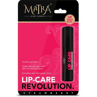Matra 100 Natural Lip Balm Strawberry Cosmopolitan - Moroccan Gold Enriched SPF Infused